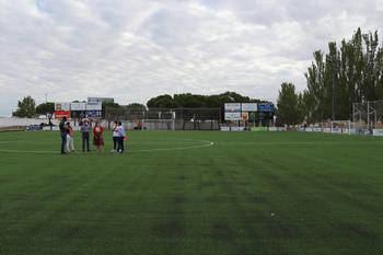 Se retoma la actividad en el campo municipal de fútbol del San Miguel de Azuqueca