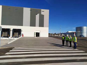 Finalizada la construcción de la macronave de Merlin para Carrefour, en Miralcampo de Azuqueca