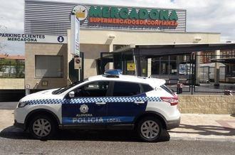 Actuación de Policía Local de Alovera contra la apropiación ilegal de carros de supermercado