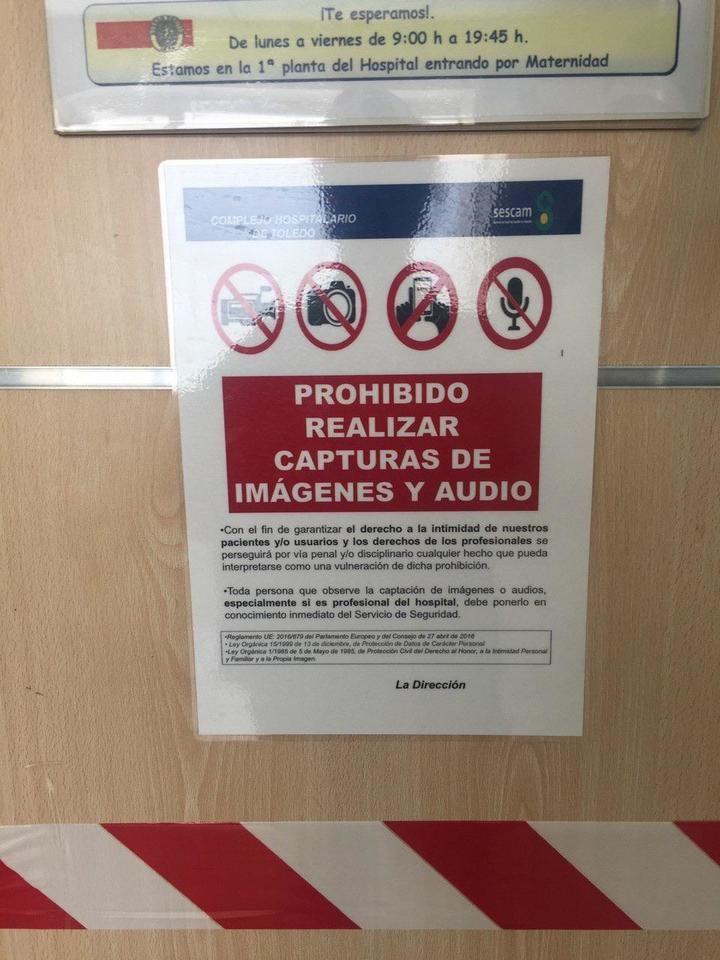 """El PP denuncia carteles que imponen """"la censura"""" en los hospitales de Castilla La Mancha demostrando """"el nerviosismo y el miedo que late en el Gobierno de Page"""""""