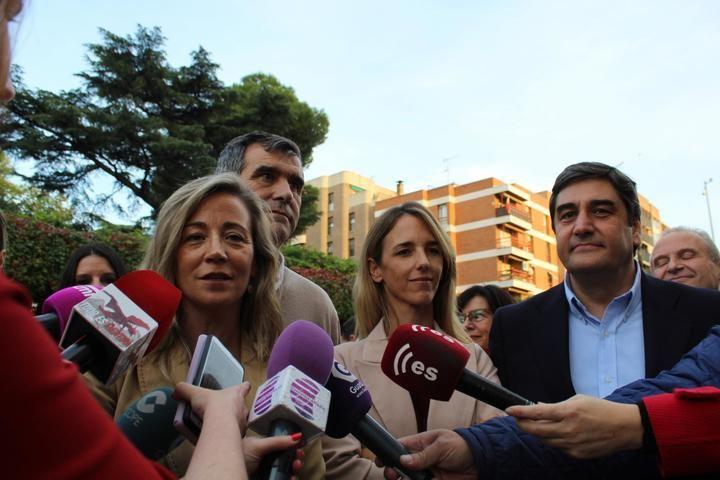 Cayetana Álvarez de Toledo apoya en Guadalajara la candidatura del PP al Congreso y Senado y le dice a Page que 'sea valiente y alce la voz' ante Sánchez