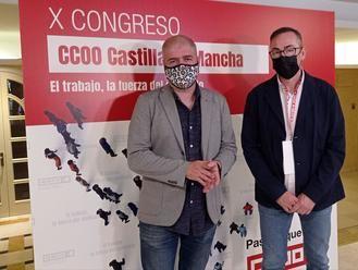 """En la apertura del X Congreso de CCOO CLM, Unai Sordo muestra su """"perplejidad"""" ante las dudas en el Gobierno sobre la oportunidad de subir el SMI"""