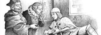 LETRAS VIVAS SEGUNTINAS : Cervantes visita la tumba del Doncel