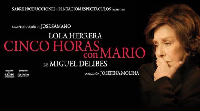 """Lola Herrera abandona el escenario por un móvil que no paraba de sonar en mitad de la función de """"Cinco horas con Mario"""""""