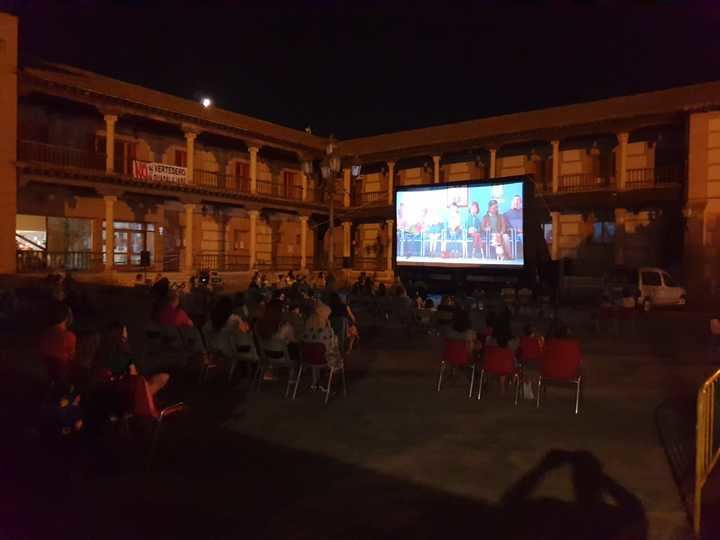 El cine protagonizó la velada cultural de un nuevo domingo de agosto en Yunquera de Henares