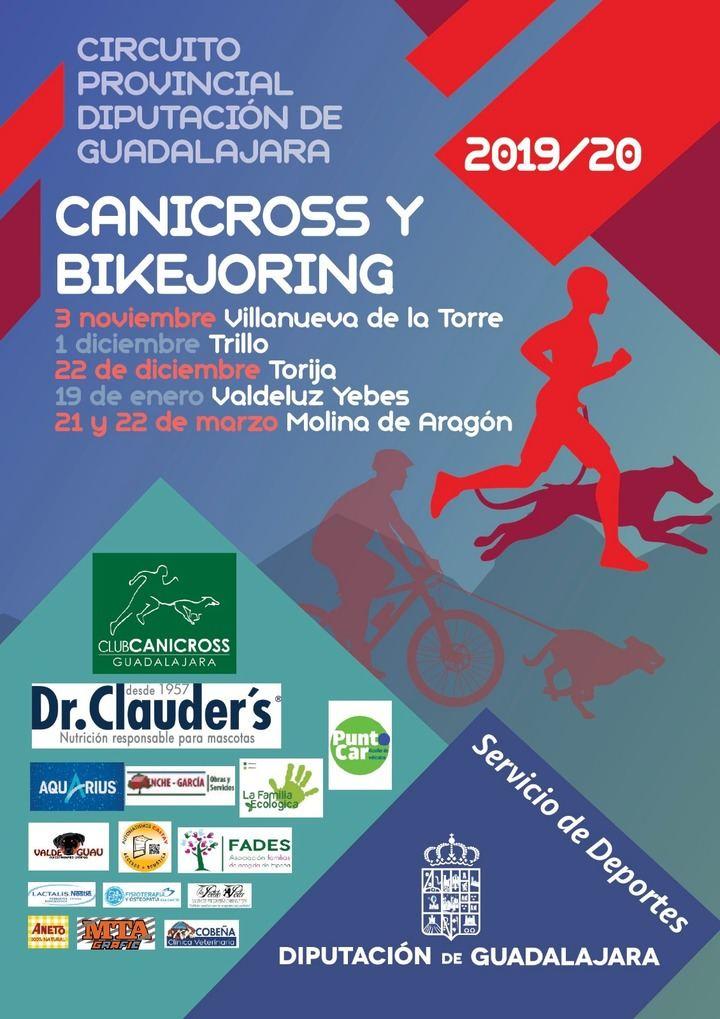 El domingo, 3 de noviembre, comienza el XI Circuito de Canicross Diputación de Guadalajara