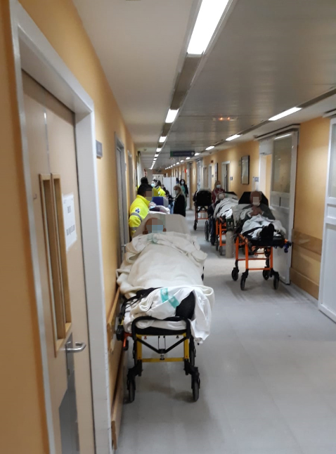 Servicio de Urgencias del Hospital de Toledo este viernes pasado. Foto : CSIF