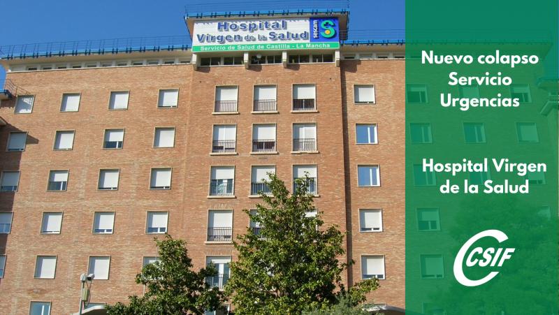 COLAPSO EN URGENCIAS : Denuncian que más de 60 pacientes diarios están pendientes de ingreso en el Hospital de Toledo