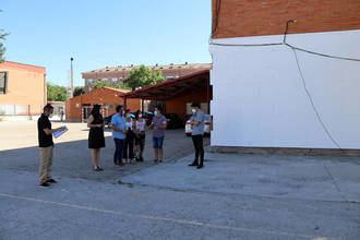 En marcha las obras de mejora del aislamiento térmico de las fachadas del colegio La Paz, que cuentan con financiación FEDER