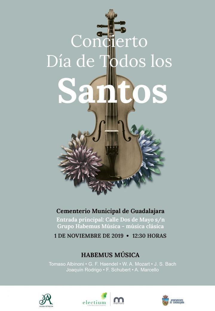 Por segundo año consecutivo, el cementerio de Guadalajara acogerá un concierto de música clásica en el Día de Todos los Santos