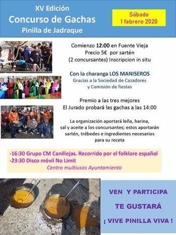 XV Edición Concurso de Gachas Pinilla de Jadraque