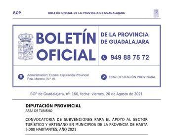 La Diputación de Guadalajara destina 200.000 euros a nuevas ayudas para hostelería, turismo y artesanía