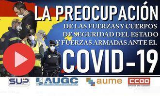 Casi 14.000 policías, guardias civiles y militares están de baja por el coronavirus