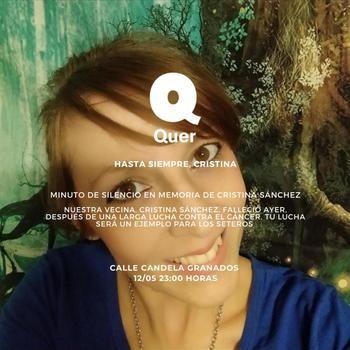 UNA AUTÉNTICA PENA : Minuto de silencio en Quer en memoria de Cristina Sánchez