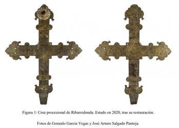 Tesoros ocultos en la Guadalajara rural: Hallada en Ribarredonda una cruz procesional gótica única en la provincia