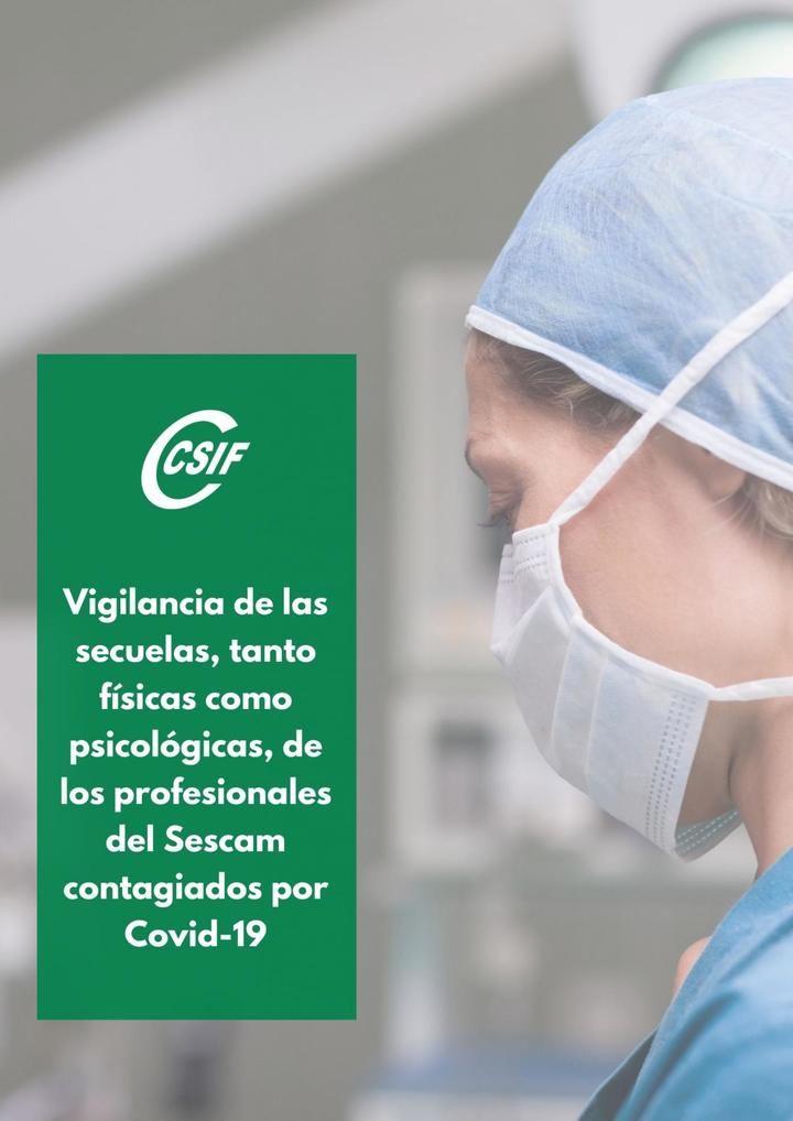CSIF exige vigilar la salud y las secuelas de los profesionales del Sescam contagiados por Covid-19, en CLM se han contagiado, al menos, 8.400 profesionales desde el inicio de la pandemia