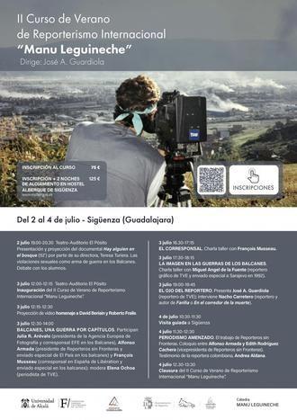 """II Curso de Verano de Reporterismo Internacional """"Manu Leguineche"""""""