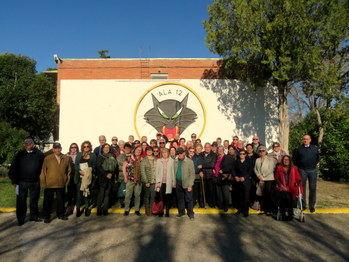 Una delegación yunquerana visita la Base Aérea de Torrejón de Ardoz
