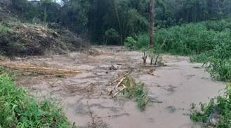 Se desborda el río Badiel a su paso por Hita debido a las fuertes lluvias