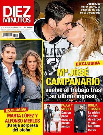 DIEZ MINUTOS La 'GH' Marta López y Alfonso Merlos, pareja sorpresa