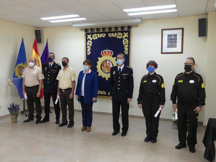 La subdelegada del Gobierno en Guadalajara preside la entrega de distinciones de la Policía Nacional a vigilantes de seguridad privada