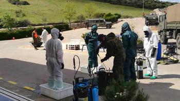 El Ejército prueba en Guadalajara un proyecto para desinfectar con luz ultravioleta