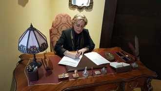 Se cumple un año de gestión de Elena Guijarro, primera decana desde la fundación del COACM en 1985
