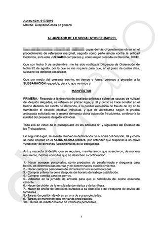 Una escolta de Podemos demanda a Irene Montero por obligarle a hacer de recadera, mecánica y chófer de la familia