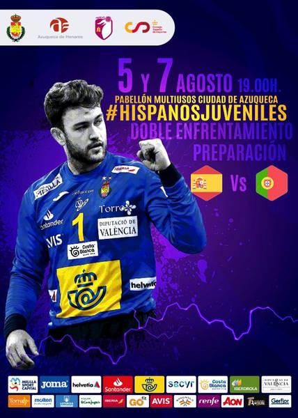Doble enfrentamiento de las selecciones juveniles de Balonmano de España y Portugal en el polideportivo Ciudad de Azuqueca