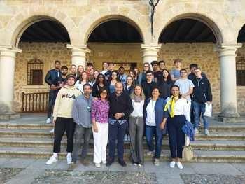 Estudiantes suizos aprenden español en Sigüenza