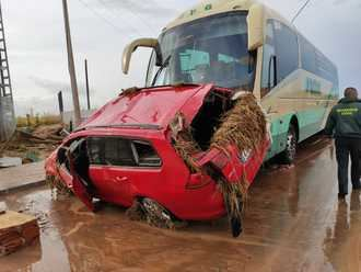 La Guardia Civil auxilia a numerosas personas atrapadas durante el temporal en la provincia de Toledo