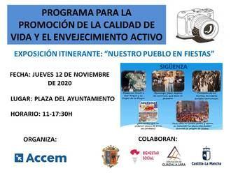 Este jueves, exposición fotográfica itinerante 'Nuestro pueblo en fiestas' en la Plaza Mayor de Sigüenza