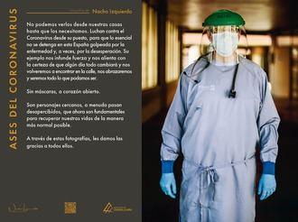 Desde el miércoles, exposición en la Plaza del Pueblo de Cabanillas: «Ases del coronavirus», del fotógrafo chileno Nacho Izquierdo
