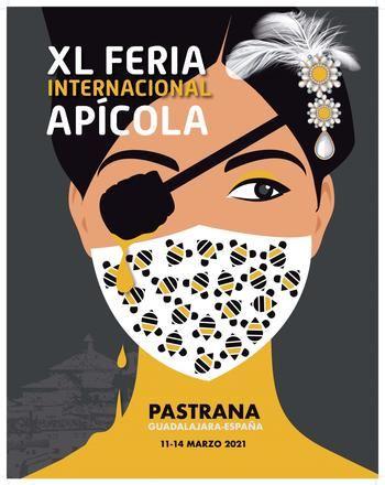 Una imagen de la princesa de Éboli con mascarilla es el cartel anunciador de la XL Feria Apícola de Pastrana