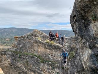 La Vía Ferrata Boca del Infierno de Sacedón, gratis si consumes tres euros o más en el municipio