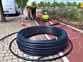 Se inician las obras del plan de despliegue de la fibra óptica en el casco urbano de Yebes