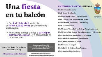 Este sábado comienza 'Una Fiesta en tu balcón' dirigida a divertir a los niños y niñas de los barrios de la ciudad de Guadalajara