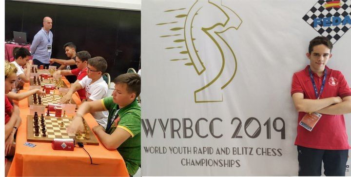 David Crespo Díaz, 14 años, joven promesa del ajedrez alcarreño, perteneciente al Club Ajedrez UNED Guadalajara, participa en el Campeonato del Mundo de Rápidas