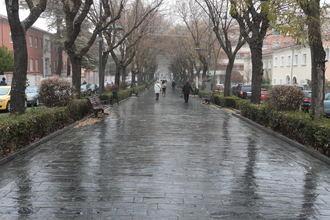 Lluvias generalizadas, rachas de viento de hasta 20 km/ y 3ºC de mínima y 11ºC de máxima este lunes en Guadalajara