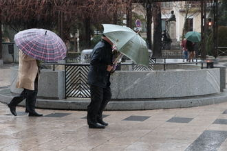 Llega este martes la borrasca Bárbara a Guadalajara con lluvias y fuertes rachas de viento pero SIN frío