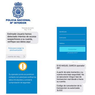 La Policía Nacional alerta de una modalidad de fraude bancario mediante SMS y llamadas telefónicas