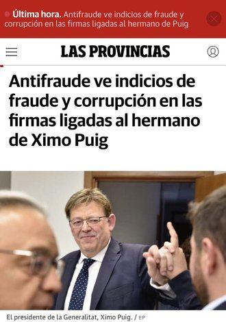ESCÁNDALO EN EL PSOE : El socialista Ximo Puig concedió personalmente subvenciones y licencias a su hermano siendo alcalde de Morella
