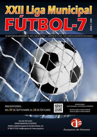 Abierta la inscripción en la XXII Liga Municipal de Fútbol 7 de Azuqueca