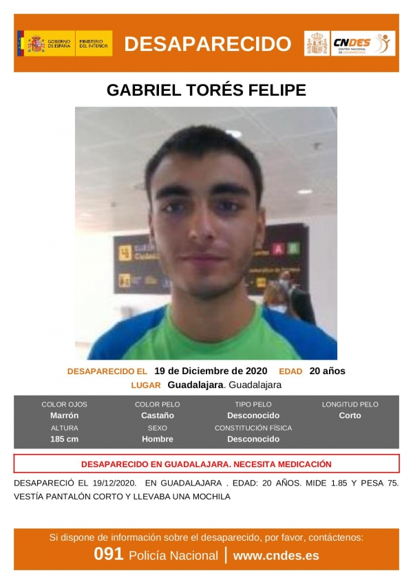 FATAL DESENLACE : Aparece sin vida en Taracena el joven desaparecido hace siete días