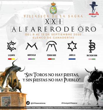 """Elegidas las ganaderías del """"XXI Certamen de Novilladas Alfarero de Oro Feria 2020"""""""
