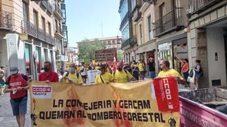 """La plantilla de Geacam pide a la empresa y a la Administración regional que recapacite: """"No pueden tener un operativo donde la media de trabajadores cobra 17.000 euros anuales, unos 1.100 euros al mes y así desde hace 11 años"""""""