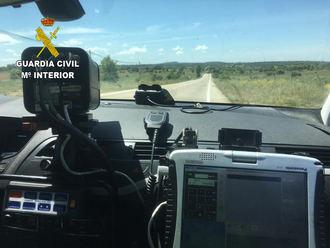 La Guardia Civil de Guadalajara investiga al conductor de un turismo que circulaba por la carretera N-320 a 185 Km/h
