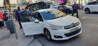 La Guardia Civil detiene en la Gran Vía de Madrid a un hombre tras robar con violencia un vehículo en Talavera de la Reina