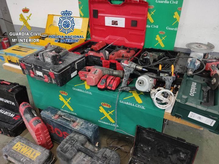La Guardia Civil y la Policía Nacional detienen en Guadalajara a 4 personas por robo en el interior de vehículos