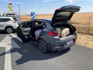 La Guardia Civil incauta más de 192 kilos de hachís durante un control en Toledo